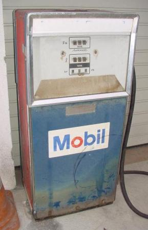 For sale details cfm 1960s mobil gas pump and oil pump restored id 149